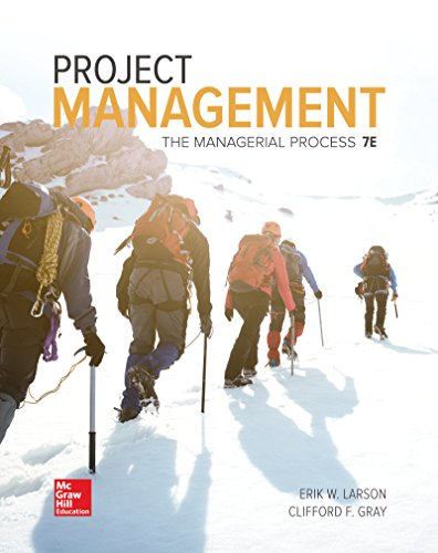 1259666093 - Project Management: The Managerial Process (Mcgraw-hill Series Operations and Decision Sciences)