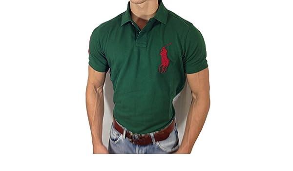 Ralph Lauren - Polo - para Hombre Verde Verde Oliva: Amazon.es ...