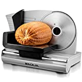 Baulia MS820 Stainless Steel Electric Food Slicer-7.5 Inch Removable Blade for Easy Cleaning – Use for Bread, Deli, Veggies, Meat, Silver