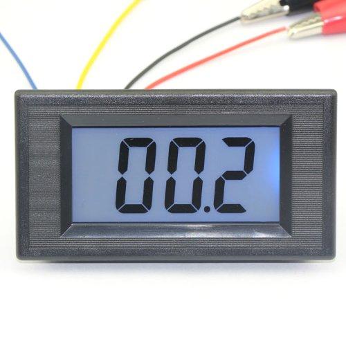 DEOK AC/DC 12V Digital Ohmmeter Blue LCD Resistance Meter 0-200 Ohms Measure Impedance Tester Meter 100086_EU