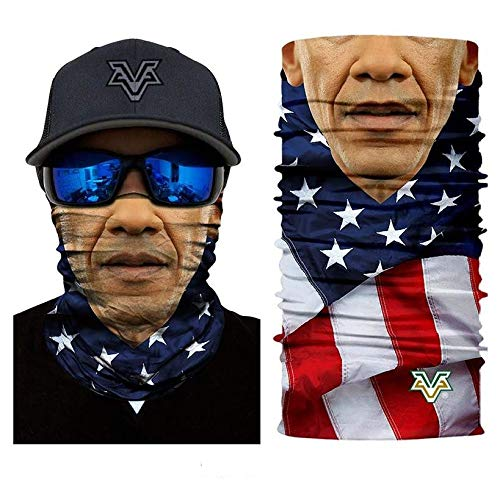3D Barack Obama Face Tube Neck Face Scarf Lower Half Face Mask Motorcycle Bicycle Shield Sun Air Soft Outdoor Biker Riding Masks No.79]()