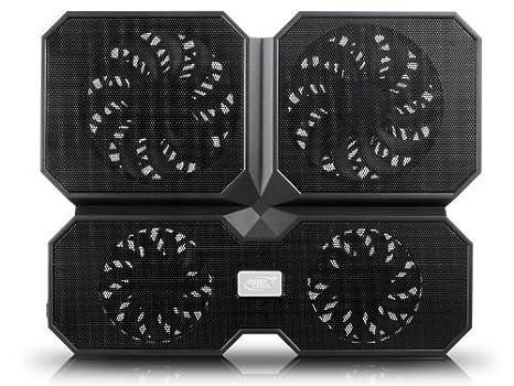 DEEPCOOL Multi Core X6 - Base de Refrigeración para Ordenador Portátil, Refrigerador Portátil 2 Ángulo de Visión con 4 Ventiladores Silenciosos y 2 Puertos ...