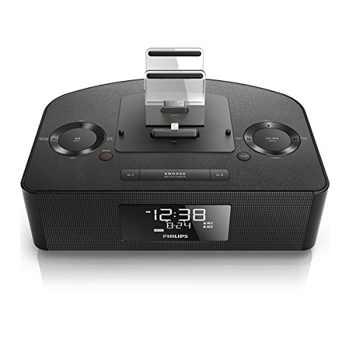 Philips AJ7260D/37 Dual Dock Triple Charging Clock Radio (Renewed)