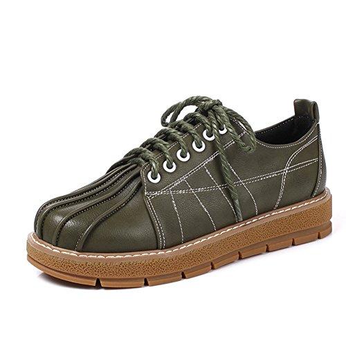 Escuela de primavera y otoño zapatos bajos de viento con plano/lazos profundos/Zapatos del estudiante C
