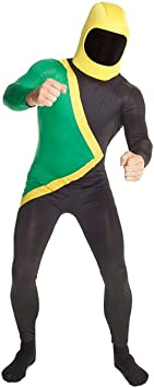 Adult Jamaican Bobsleigh Team 90s Bobsled Fancy Dress Costume Sport Stag Party