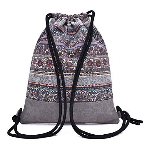 Femme Bag Sport Bouquet À Beach De Dos Folklorique Gris Sac Pocket fpq4W