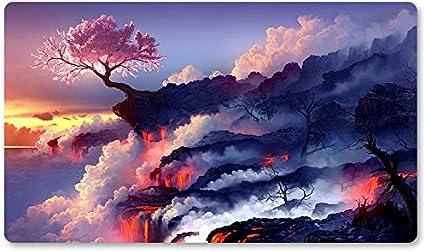 Alfombrilla de Juego para Juegos de Mesa con diseño de árbol Rosa de 60 x 35 cm para Jugar a Yugioh Pokemon Magic The Gathering: Amazon.es: Oficina y papelería