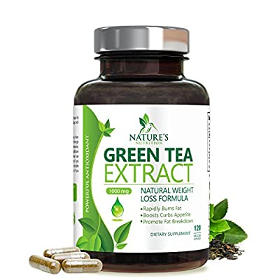 Green Tea Extract Supplement with EGCG for Weight Loss - Boost Metabolism & Promote a Healthy Heart - Natural Caffeine for Gentle Energy, Antioxidant, Organic Green Tea Pills