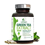 Green Tea Extract Fat Burner with EGCG for Weight Loss - Boost Metabolism for Healthy Weight Loss - Natural Caffeine for Gentle Energy, Antioxidant Supplement, Organic Green Tea Pills - 120 Capsules