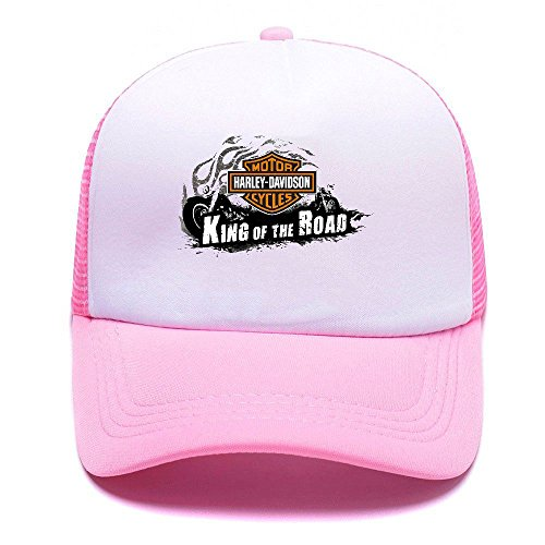 Harley D Black Baseball Caps Gorras de béisbol Trucker Hat Mesh Cap For Men Women Boy Girl 005 Pink