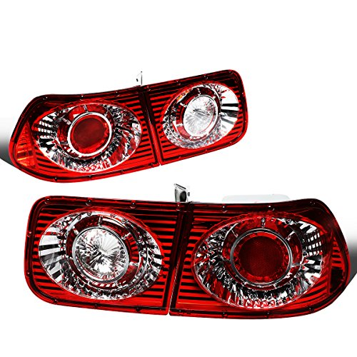 DNA Motoring CLOSE-SK3900-CV96-2D-R Altezza Style Tail Brake Light [For 96-00 Honda Civic 2Dr Coupe]