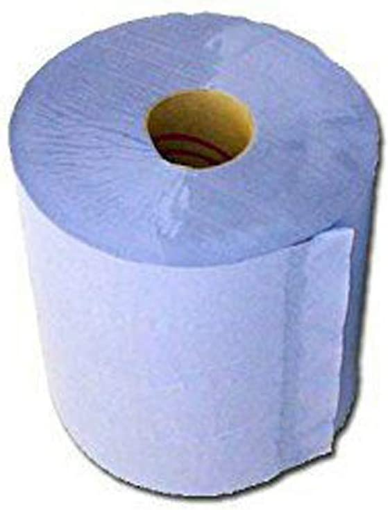 Bathroom Warehouse Kitchen 6 x 2-Ply Blue Centrefeed Paper Tissue Rolls 150 Meter We Can Source It Ltd Ideal for Garage