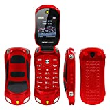 Sports Car Model Unlocked F15 Mini Flip Phone Dual SIM Card MP3 Backup