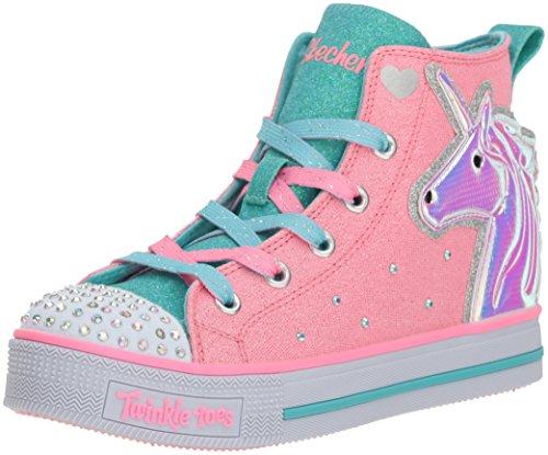 Skechers Kids' Twinkle Lite-Unicorn Friends Sneaker,