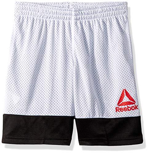 Open Hole Mesh Short - Reebok Boys' Big Basketball Short, Open Hole mesh White, 8