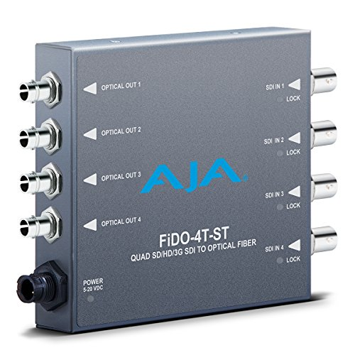 AJA FiDO-4T-ST Four Channel ST SDI to Fiber Mini Converter by Aja