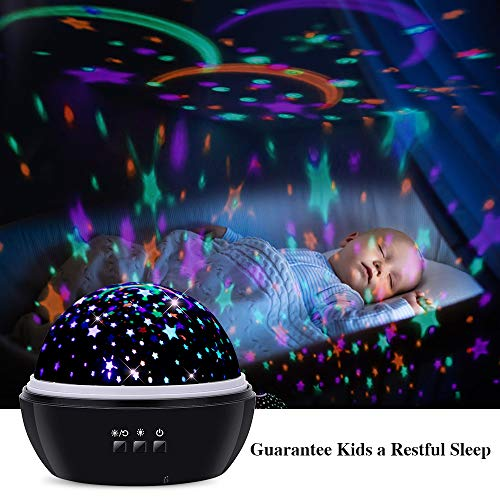 Star Night Light Projector,GoLine Projector Night Light for Toddler Baby, Rotating Starry Ceiling Light for Bedroom,Best Gift Ideas.