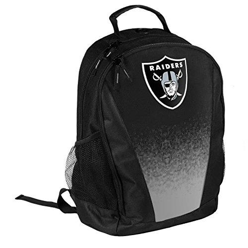 FOCO NFL Oakland Raiders Logo Gradient Print Primetime Deluxe Backpack, Team Color, Standard, One Size