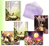 Fairies by Garry Walton [ASN34600] Blank Note Card Assortment by Leanin' Tree – 12 cards featuring a full-color interior and colorful envelope, Health Care Stuffs