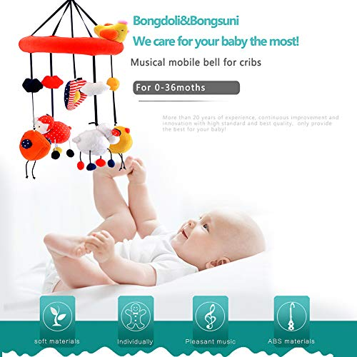(Bongoli&Bongsuni Baby Crib Musical Mobile Decoration Newborn Gift 35 Tunes Plush Musical Mobile (Circle The Chicken))