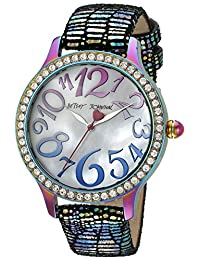 Betsey Johnson Women's BJ00564-01 Analog Display Quartz Multi-Color Watch