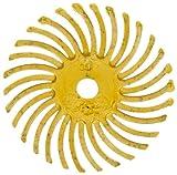 Scotch-Brite(TM) Radial Bristle Disc, 35000 rpm, 1 Diameter, 80 Grit, Yellow (Pack of 24)