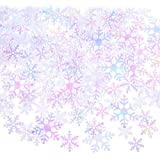 Boao 800 Pieces Snowflake Confetti Christmas Table Confetti for Christmas Wedding Birthday Winter Party Decorations