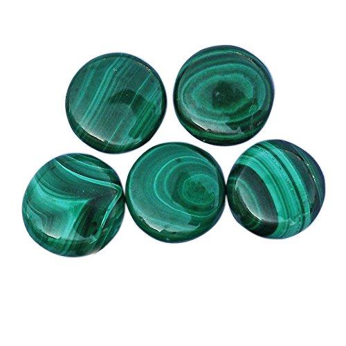 15 Mm Gemstone - 15 mm Natural Green Malachite Gemstone Round Shape Cabochon Calibrated Stone Handmade Cut Gems ML15