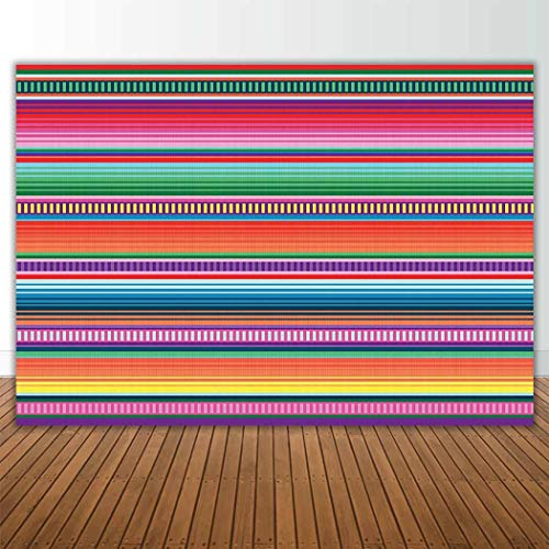 Allenjoy 7x5ft Color Fiesta Theme Party Stripes Backdrop Cinco De Mayo Mexican Festival Photography Background Cactus Banner Decoration Event Table Decor Banner Background Children Photo Booth Shoot by Allenjoy (Image #3)