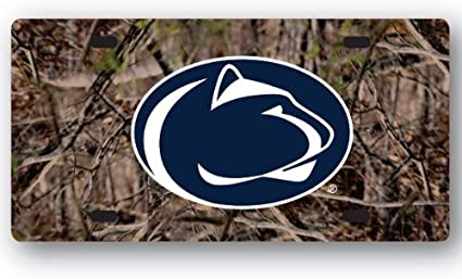Metal with Inlaid Acrylic Blue WinCraft Penn State University PSU Nittany Lions License Plate Frame 4 Mount Holes