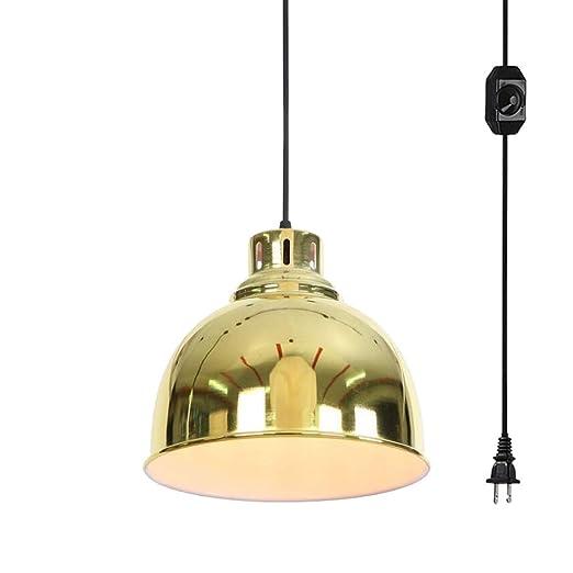 Amazon.com: Pantalla de lámpara de metal dorado de ANYE con ...