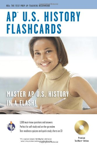 AP® U.S. History Premium Edition Flashcard Book w/ CD (Advanced Placement (AP) Test Preparation)
