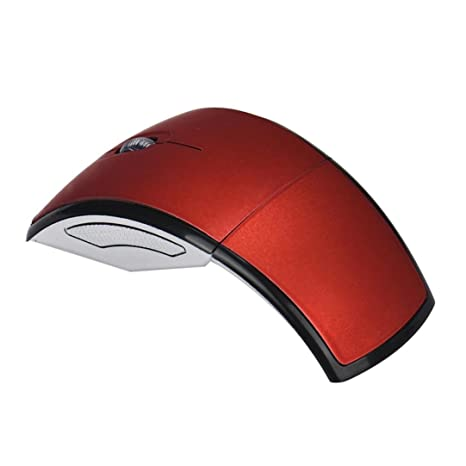 ubei ultrafino plegable Arc ratón óptico inalámbrico y portátil almohadilla de 2,4 GHz para