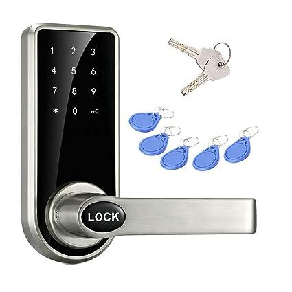 JASIT Door Lock Smart Keyless Digital Electronic Touchscreen Keypad Lever  Lockset Security Entry Door Code Lock