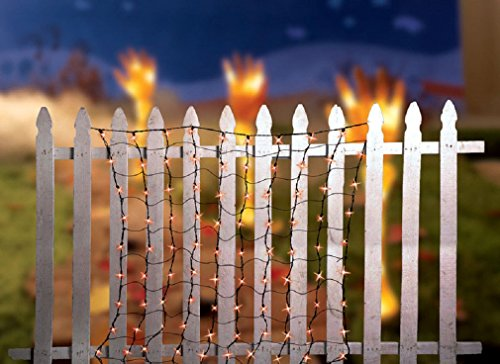 Celebrations 186pae11 Net Set Halloween Light, Orange, 4' W X 4' L]()