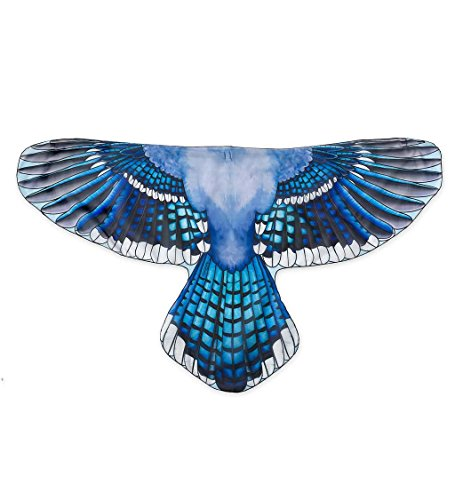 Brainy Bird Wings, Dress Up and Pretend Play Costume for Kids - 52'' Wingspan - Blue Jay