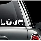 Cats Spell Love Car Vinyl Decal Sticker for Cars, Trucks, Laptops, Etc.