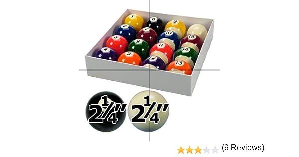 Spots and Stripes - Juego de bolas de billar (5,7 cm de diámetro ...