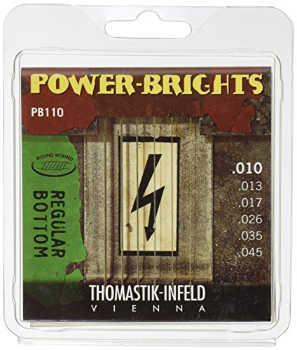 10 Power-Brights 6 String Magnecore Round Wound Set E, B, G, D, A, E ()