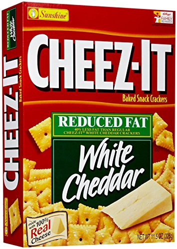 Cheez-It Baked Snack Crackers - Reduced Fat White Cheddar - 11.5 oz