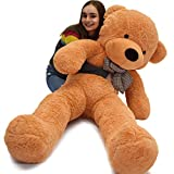 "WOWMAX 6 Foot 71"" Light Brown Giant Huge Life Size Teddy Bear Cuddly Stuffed Plush Animals Teddy Bear Toy Doll"