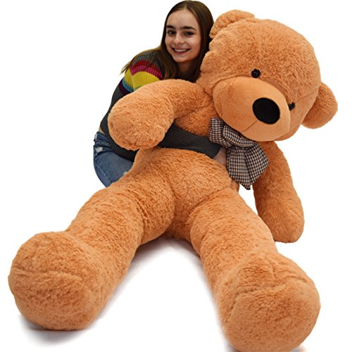 WOWMAX Light Brown 6 Foot Giant Huge Life Size Teddy Bear Cuddly Stuffed Plush Animals Teddy Bear Toy Doll 71