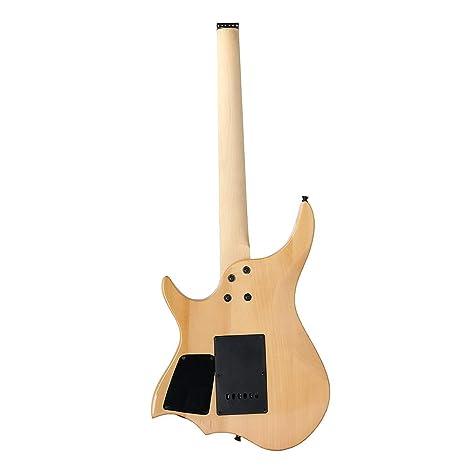 Taihang DIY Maple Wood bajo eléctrico ASH Body Kit con diapasón de cuello: Amazon.es: Instrumentos musicales
