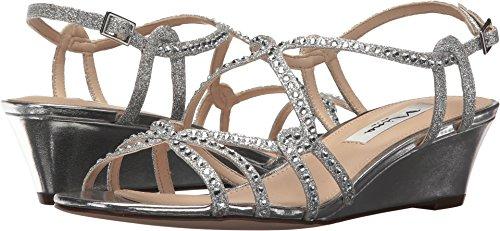 Nina Women's, Finola Mid Heel Sandals Silver 8 M