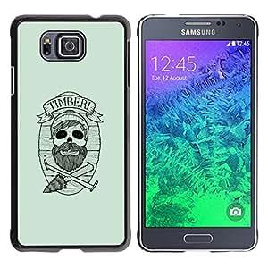 EJOY---Cubierta de la caja de protección la piel dura para el ** Samsung ALPHA G850 ** --Maderas del inconformista cráneo