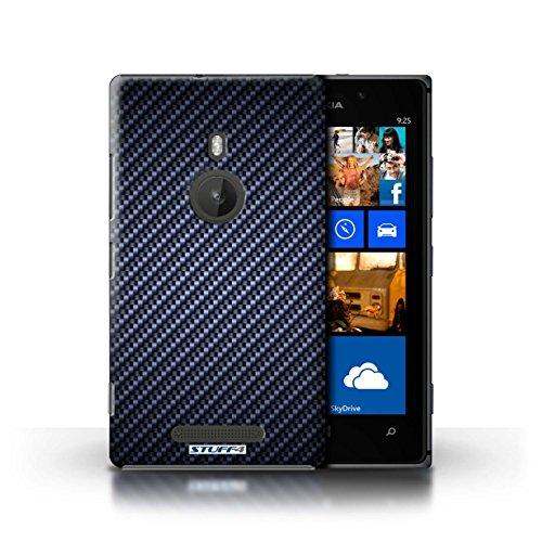 Kobalt® Imprimé Etui / Coque pour Nokia Lumia 925 / Bleu conception / Série Motif de Fibre de Carbone