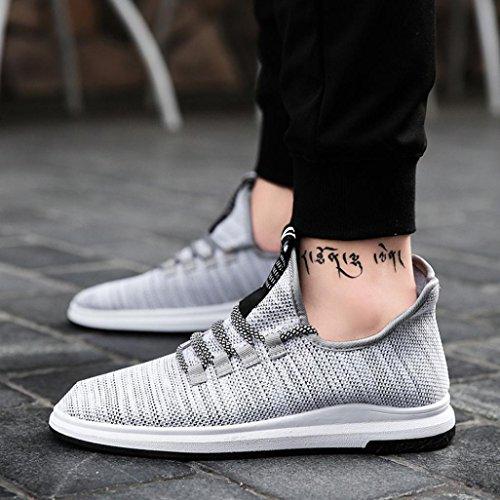 Elevin (tm) 2018mens Mode Chaussures De Sport Printemps Respirant Lacets Espadrilles Gris