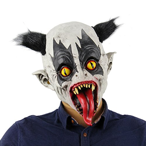 Halloween Horrific Demon Adult Scary Clown Masks Cosplay Props(Bat Clown