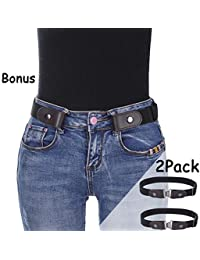 """Buckle-Free Elastic Women Belt - Stretch Waist Belt Up to 42"""" Comfortable Invisible Belt No Bulge No Hassle"""