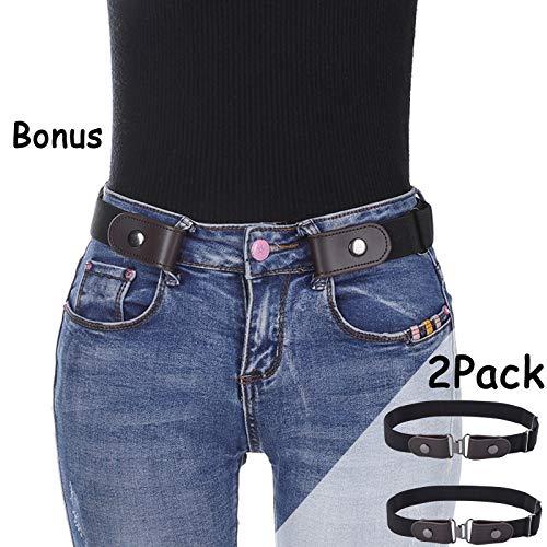 No Buckle Elastic Women Belt - Stretch Waist Belt Up to 42 Comfortable Invisible Belt No Bulge No Hassle